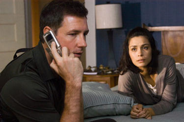 Ed Burns and Shannyn Sossamon in &quot;One Missed Call.&quot;
